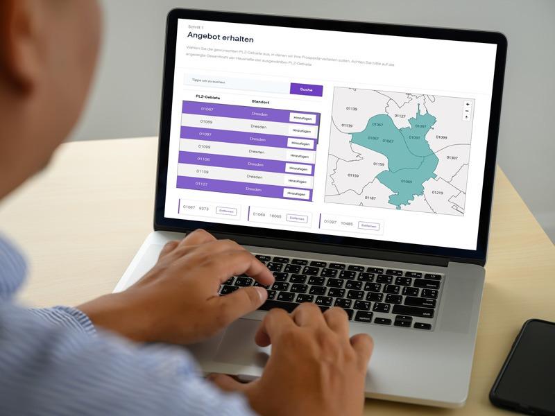 InnoGPS kennenlernen-Demoversion-Prospekt verteilen mit GPS
